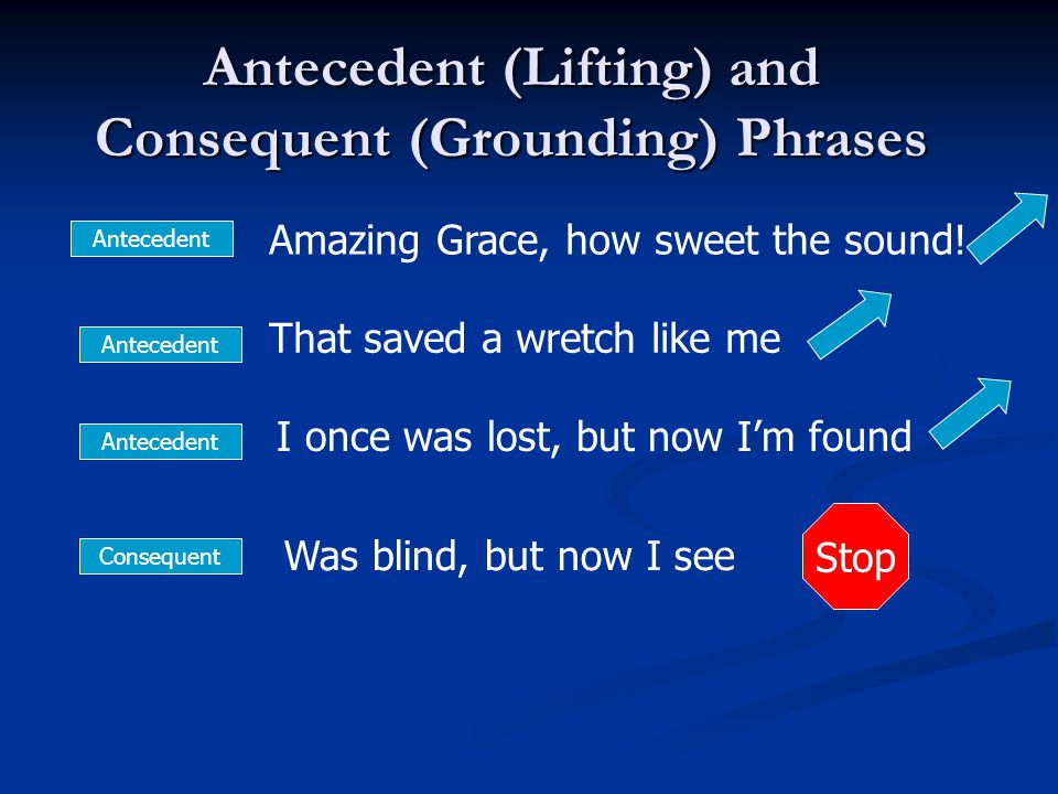 Antecedent (Lifting) and Consequent (Grounding) Phrases