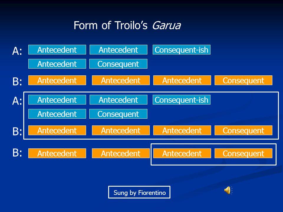 Form of Troilo's Garua A: B: A: B: B: Antecedent Antecedent