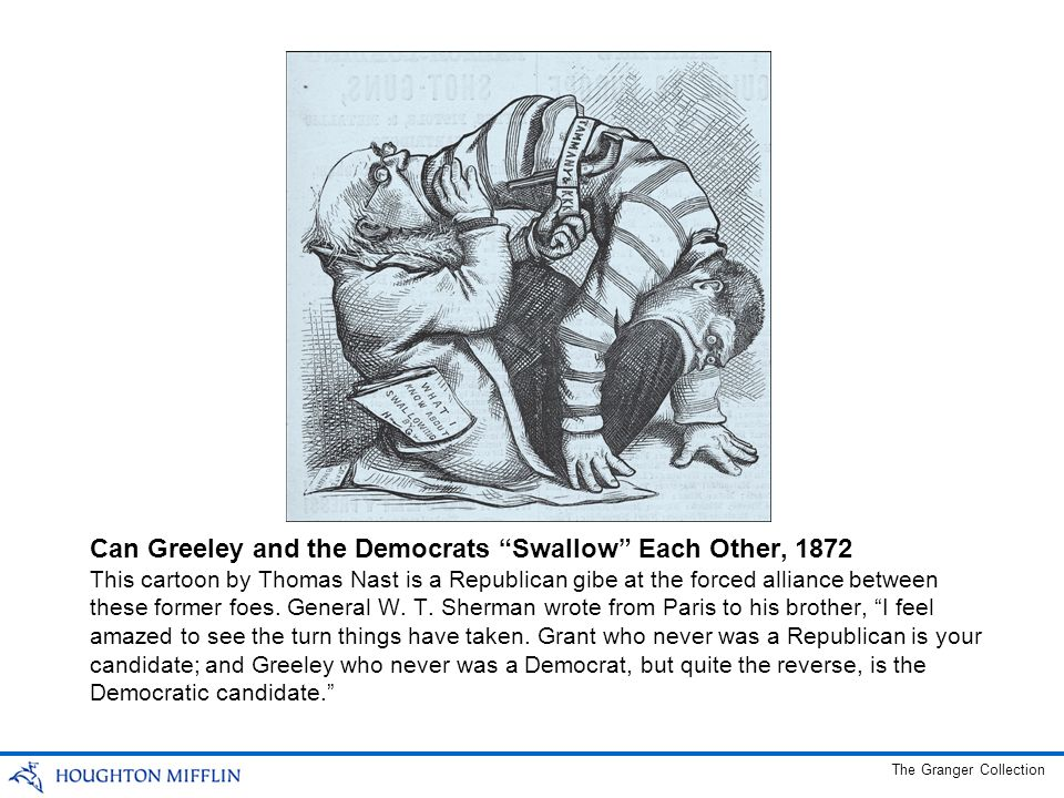 Can Greeley and the Democrats Swallow Each Other, 1872