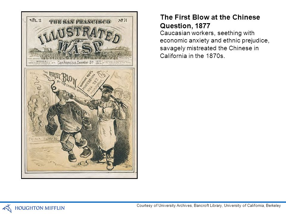 The First Blow at the Chinese Question, 1877