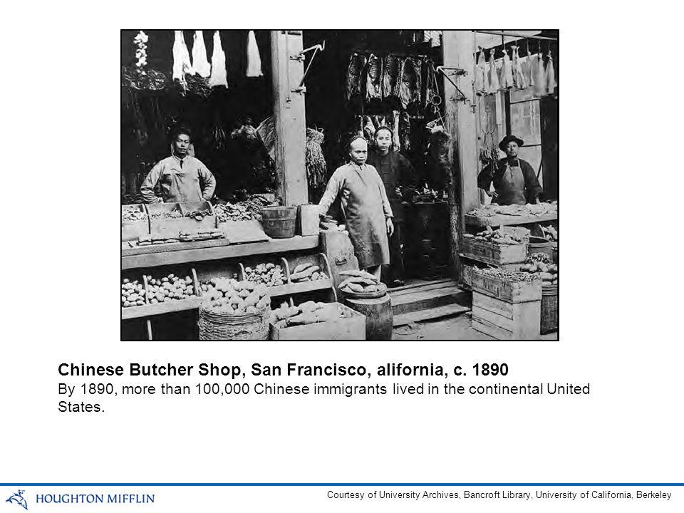 Chinese Butcher Shop, San Francisco, alifornia, c. 1890