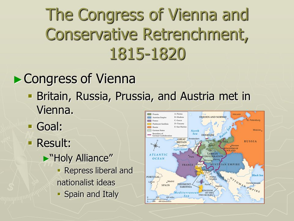 The Congress of Vienna and Conservative Retrenchment, 1815-1820