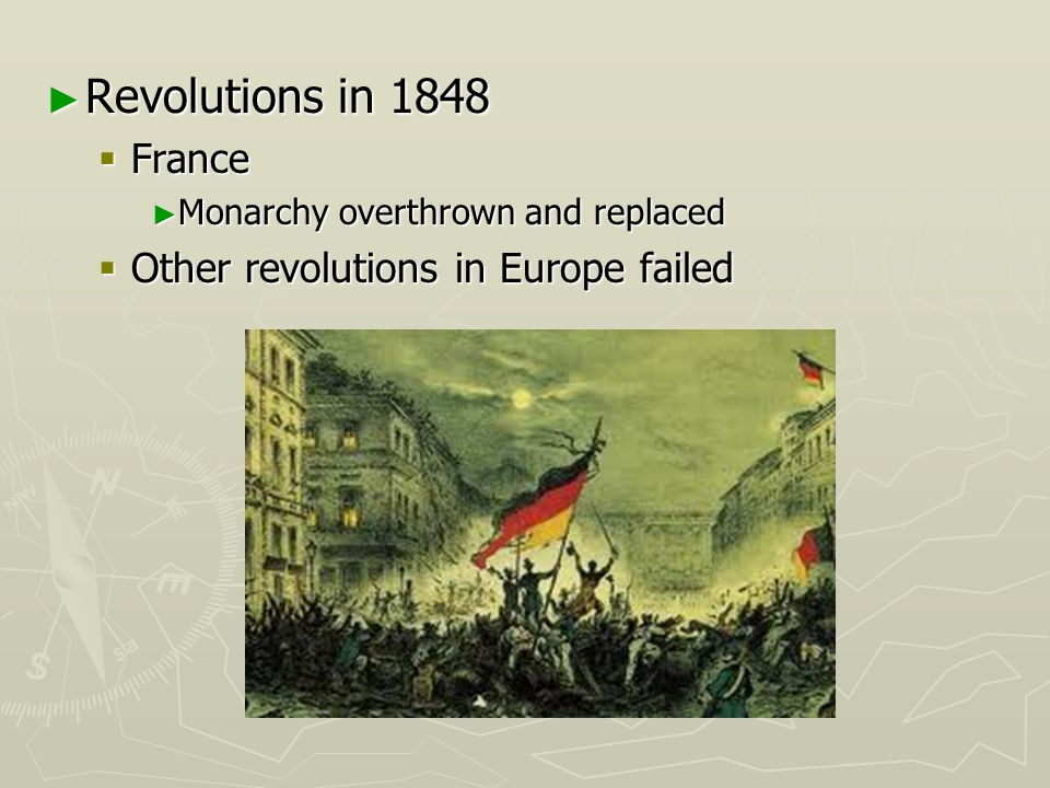 Revolutions in 1848 France Other revolutions in Europe failed