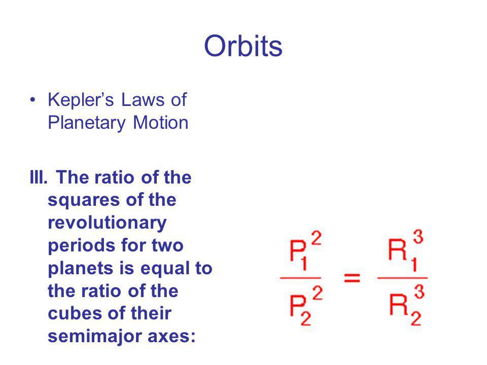 Orbits Kepler's Laws of Planetary Motion