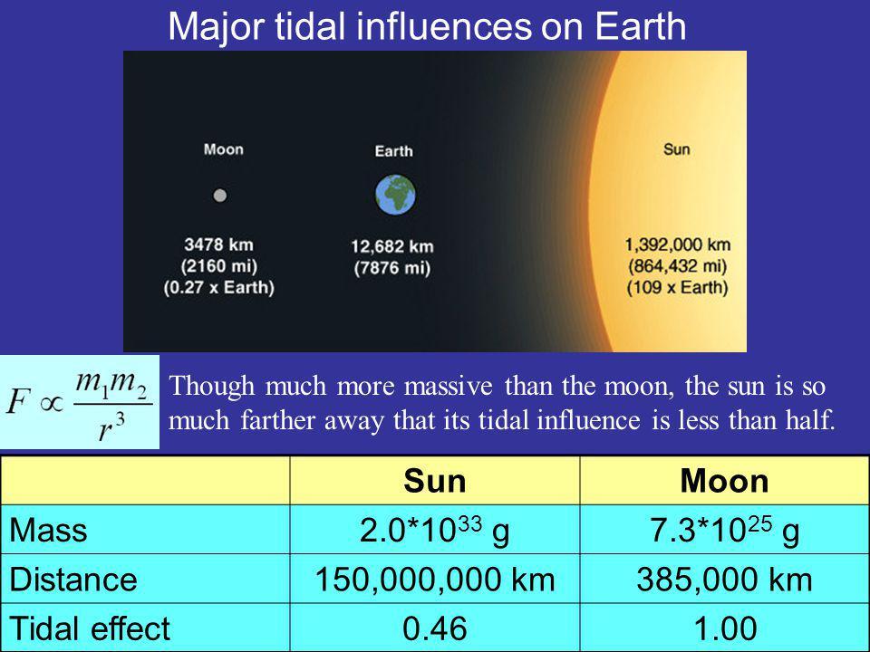 Major tidal influences on Earth