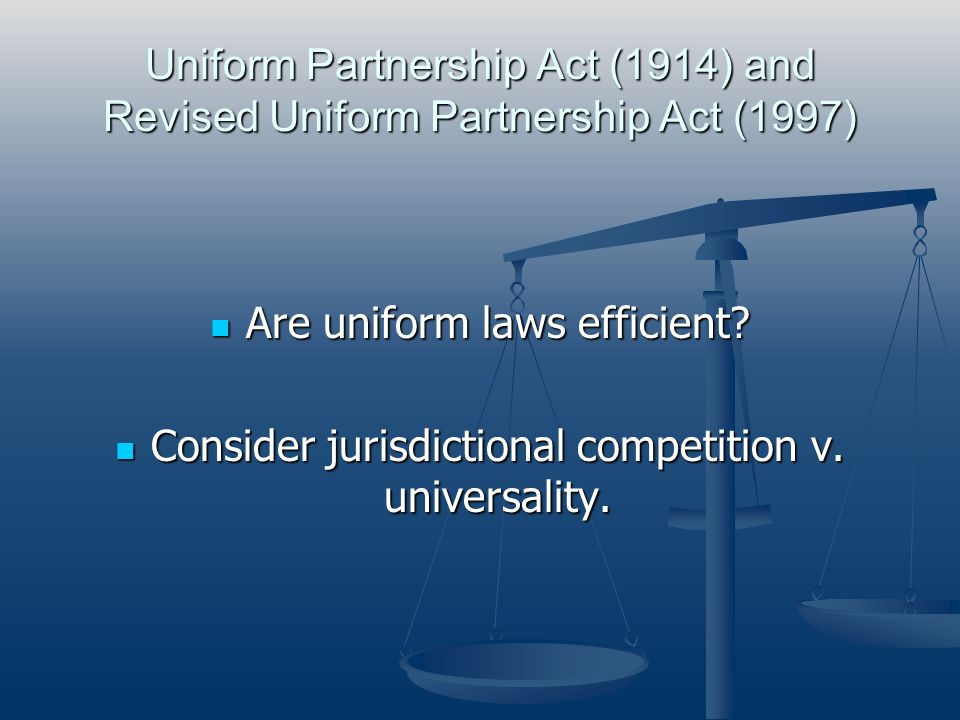 Are uniform laws efficient