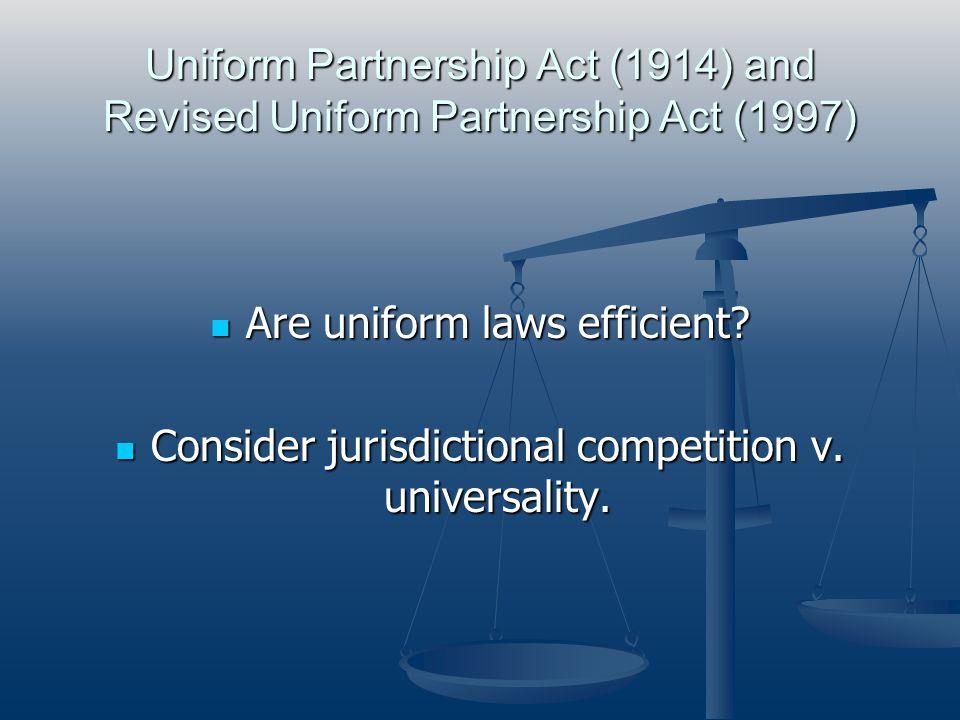 Are uniform laws efficient