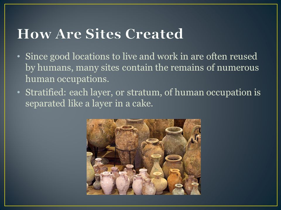 How Are Sites Created
