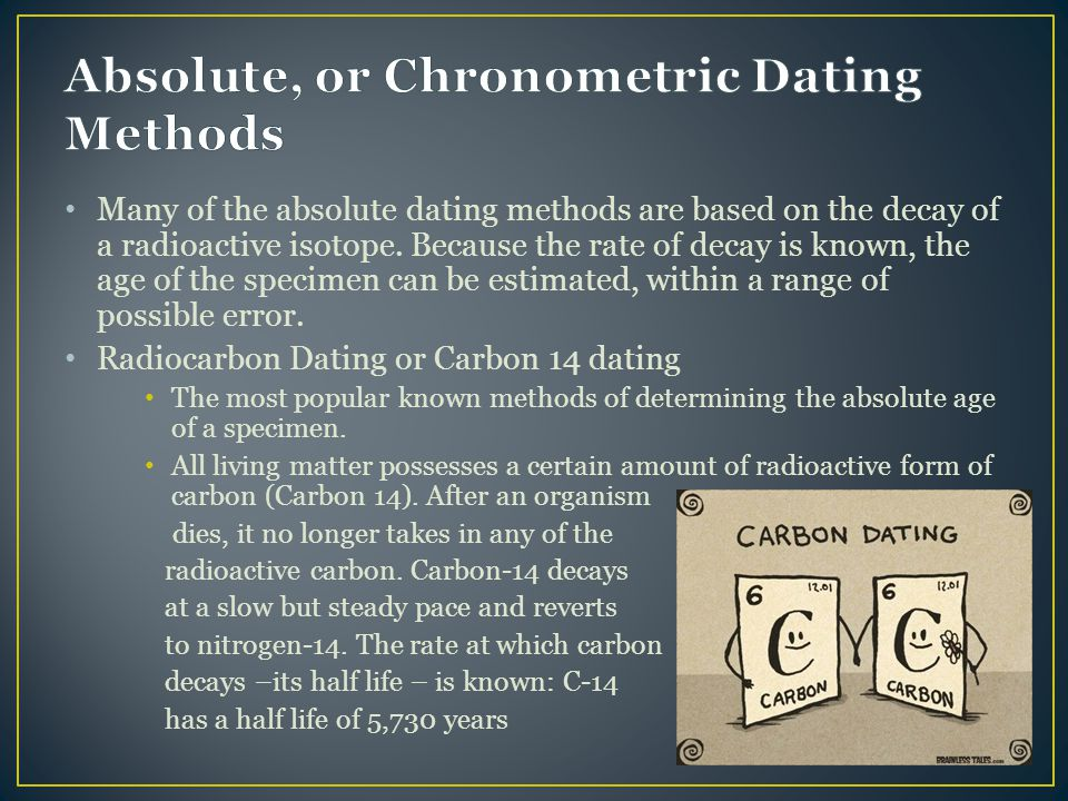 Absolute, or Chronometric Dating Methods