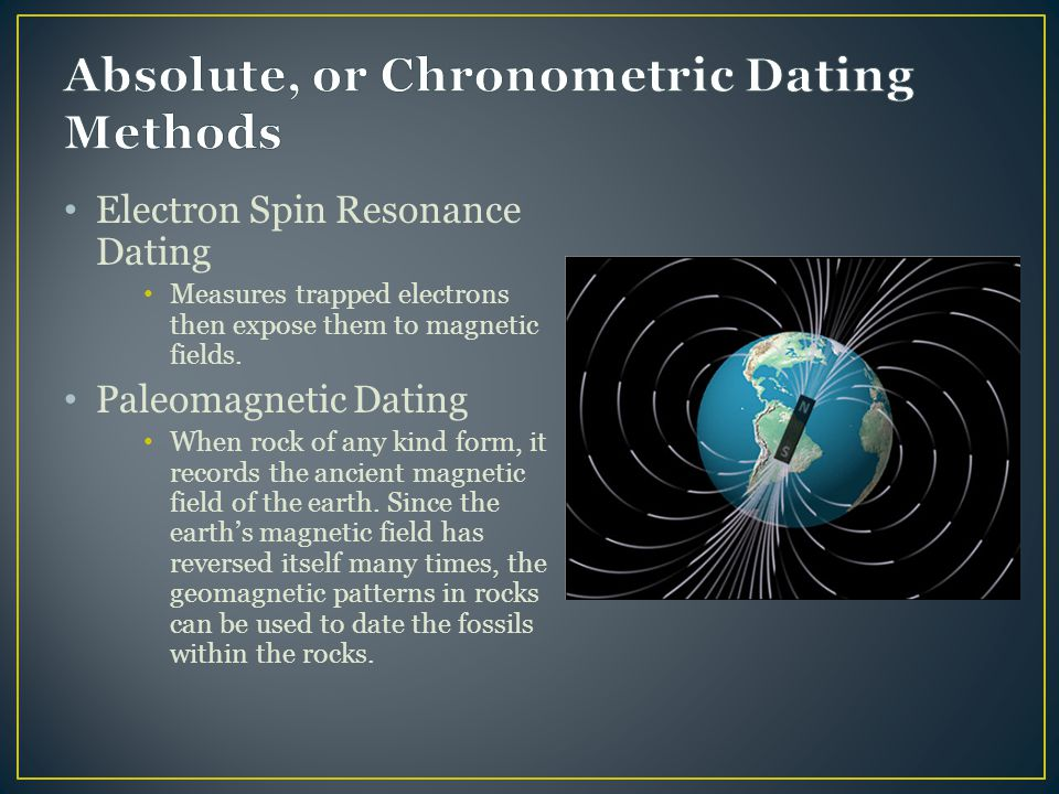 Electron spin resonance dating christian