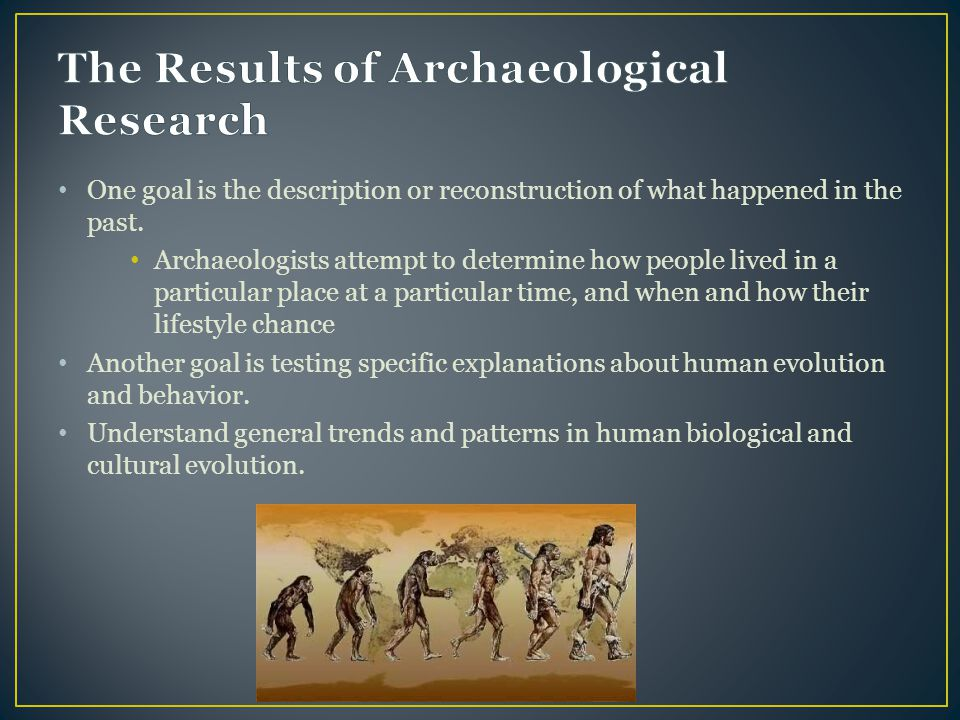 The Results of Archaeological Research