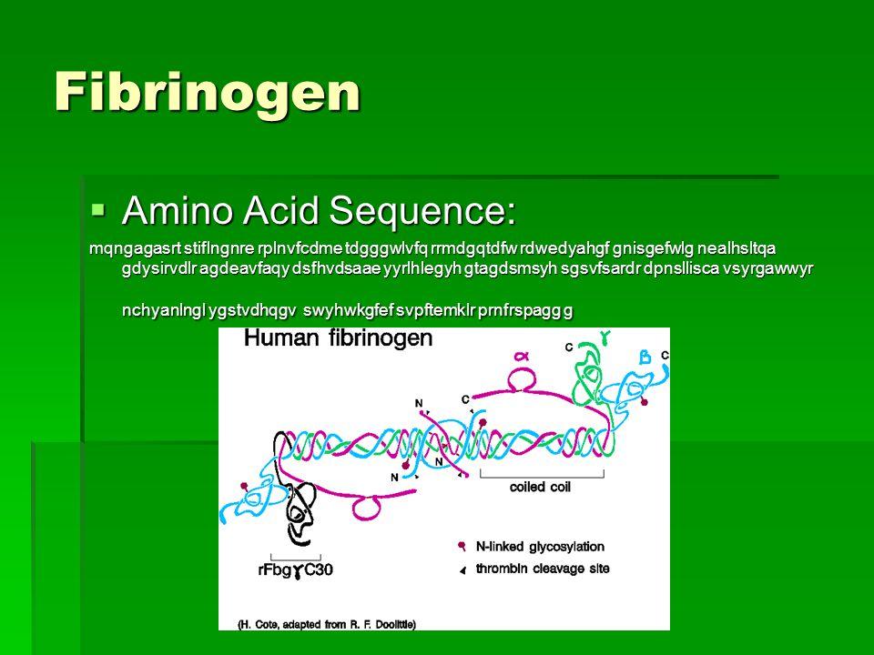 Fibrinogen Amino Acid Sequence: