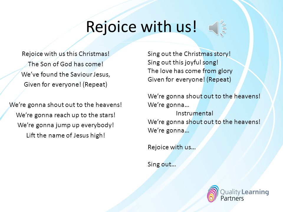 Rejoice with us!