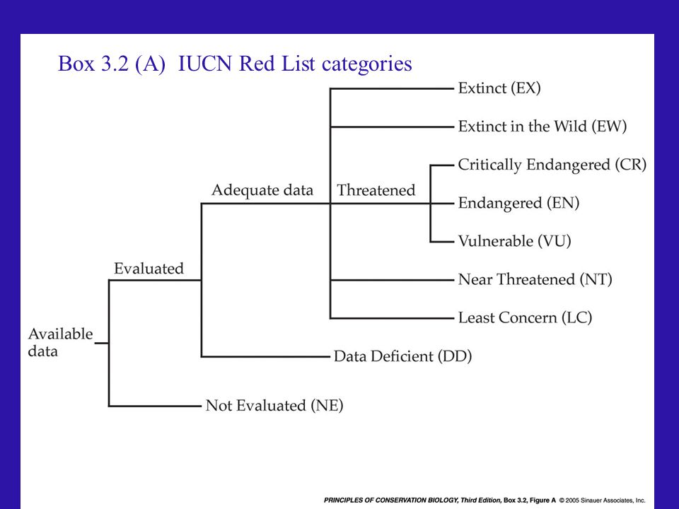 Box 3.2 (A) IUCN Red List categories