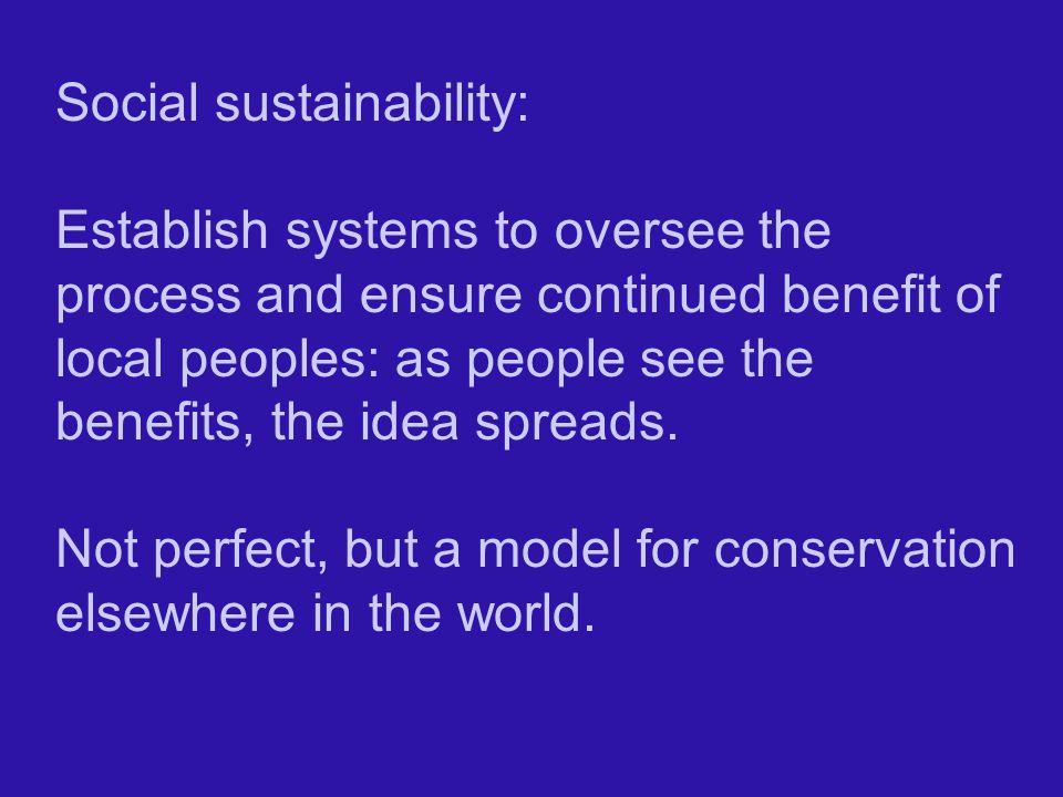 Social sustainability: