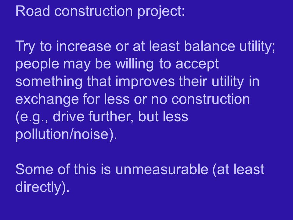 Road construction project: