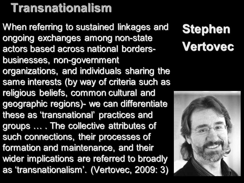 Transnationalism Stephen Vertovec