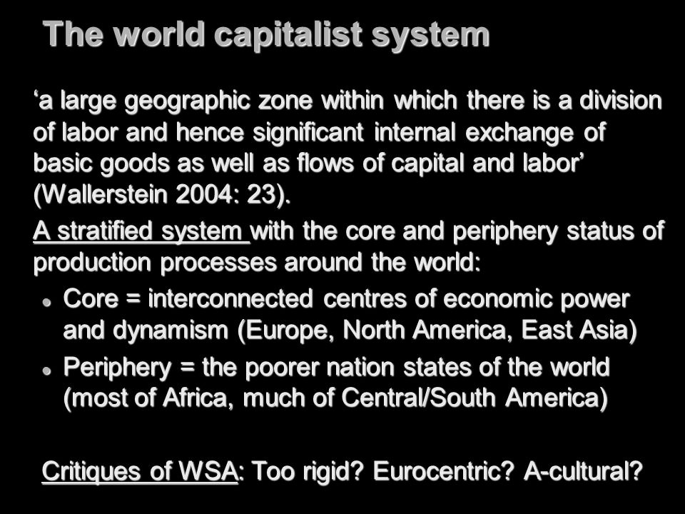 The world capitalist system
