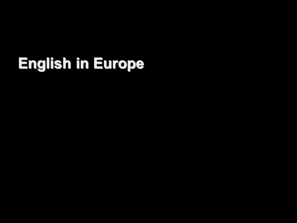 English in Europe