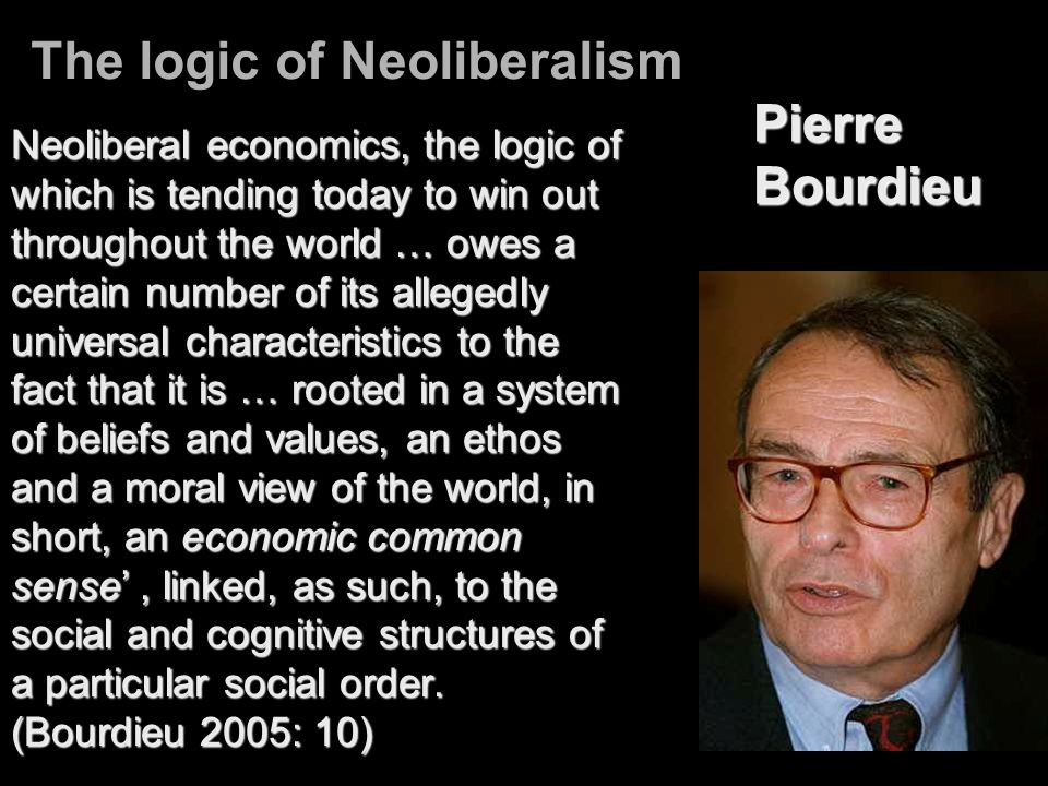The logic of Neoliberalism