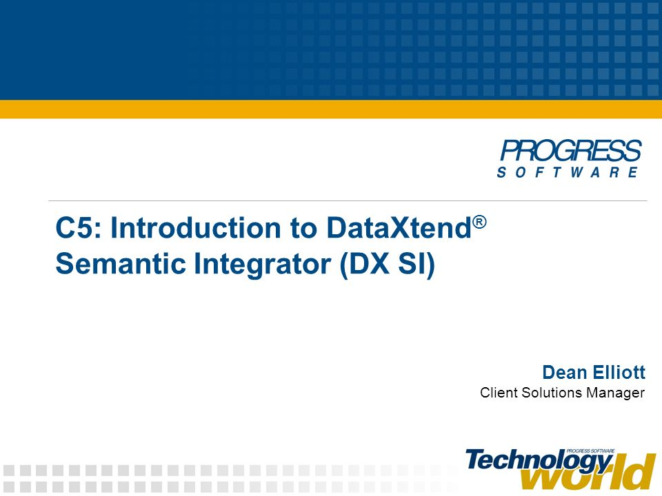 C5: Introduction to DataXtend® Semantic Integrator (DX SI)