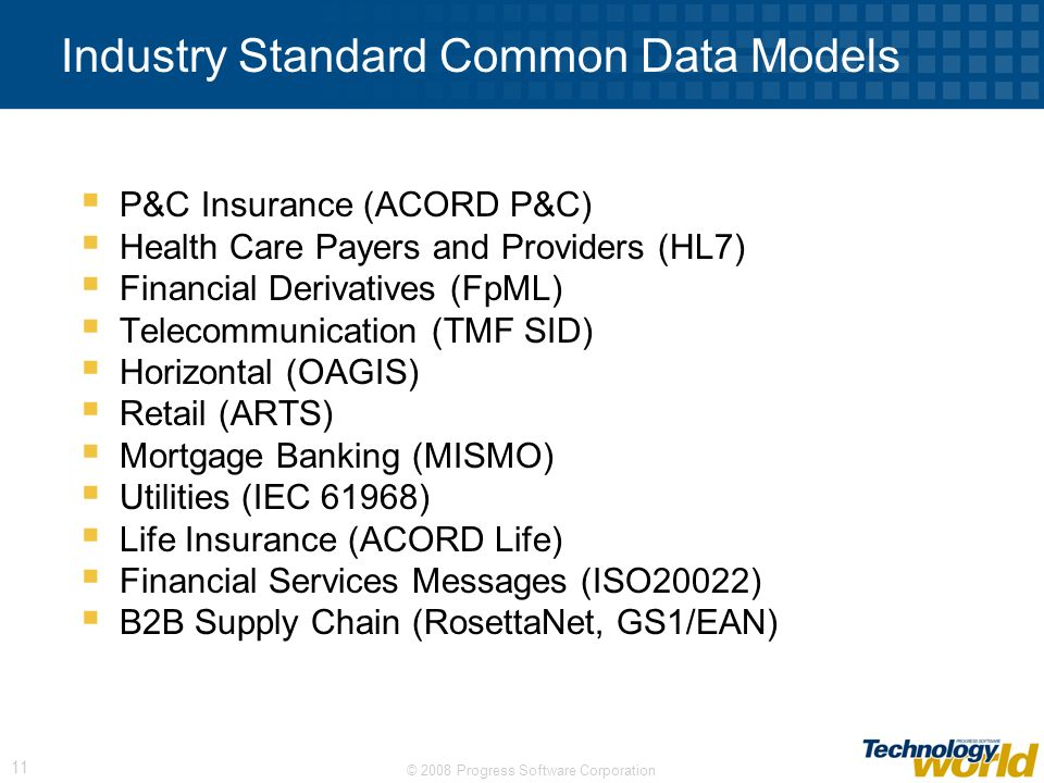Industry Standard Common Data Models
