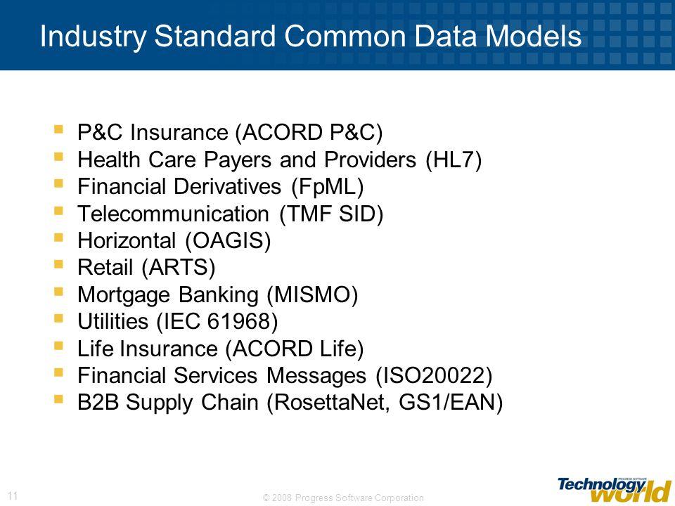 Industry Standard Common Data Models