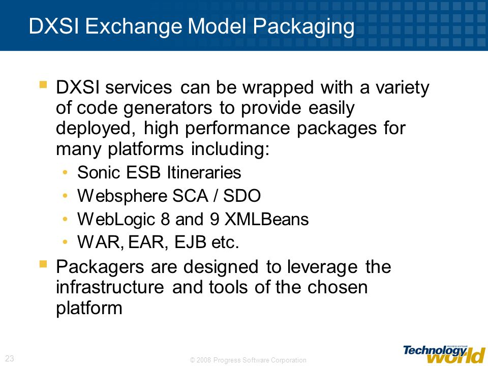 DXSI Exchange Model Packaging