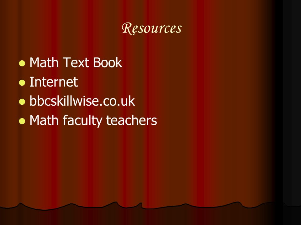 Resources Math Text Book Internet bbcskillwise.co.uk