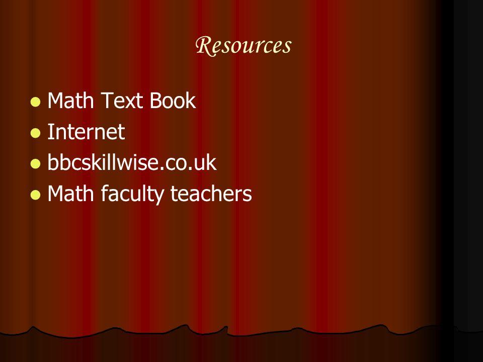 Resources Math Text Book Internet bbcskillwise.co.uk