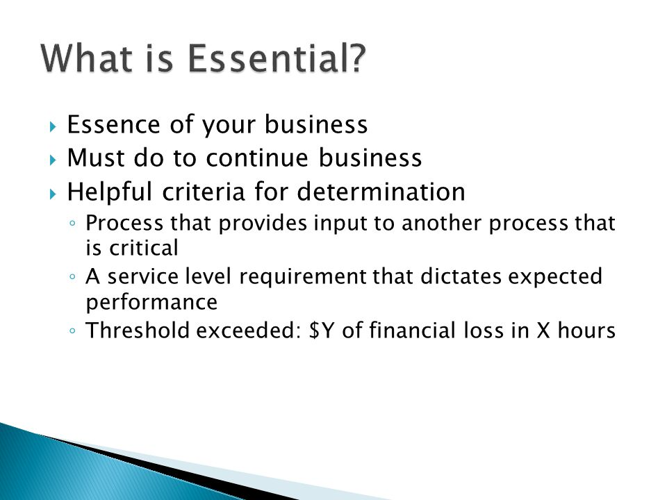 What is Essential Essence of your business