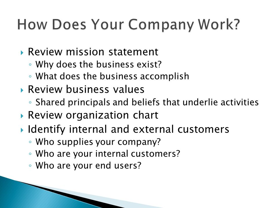How Does Your Company Work