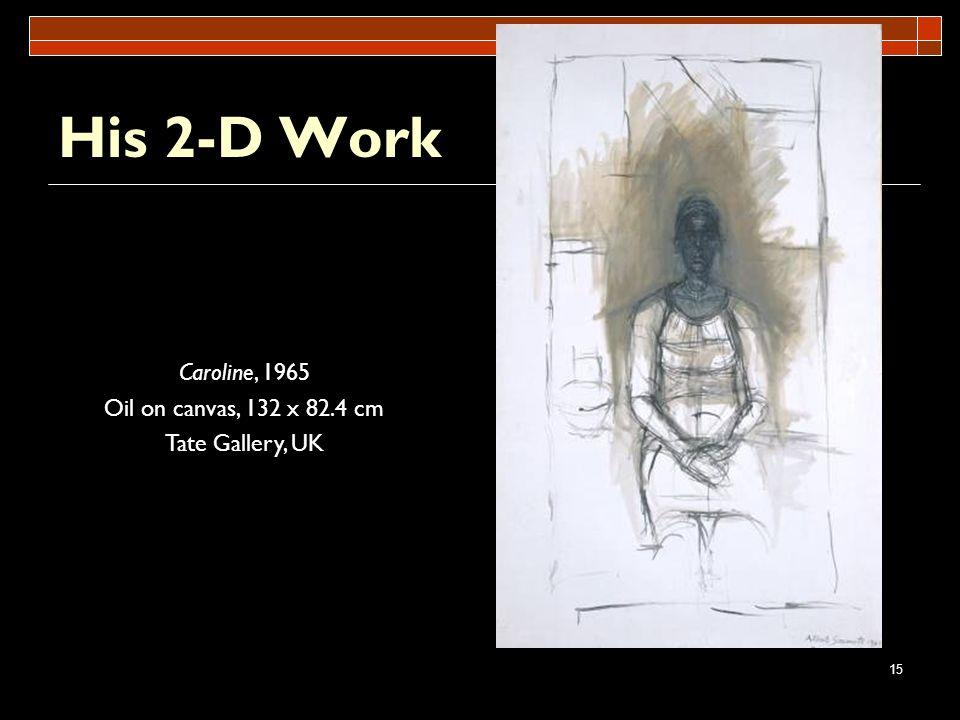 His 2-D Work Caroline, 1965 Oil on canvas, 132 x 82.4 cm