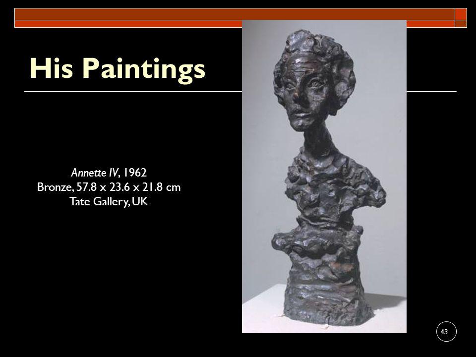 His Paintings Annette IV, 1962 Bronze, 57.8 x 23.6 x 21.8 cm