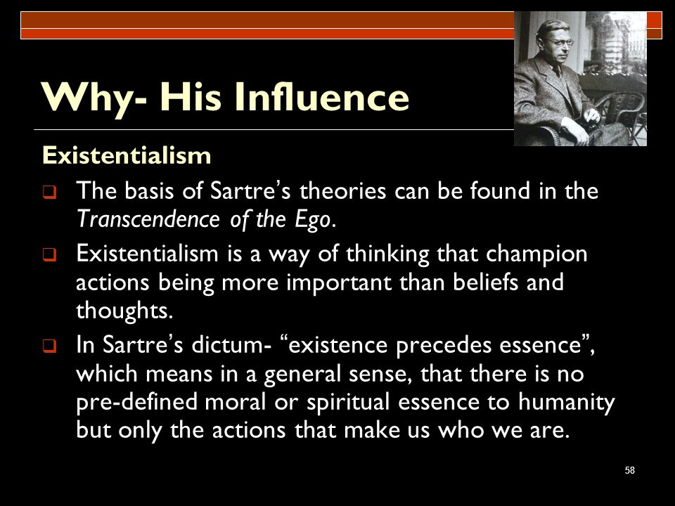 Why- His Influence Existentialism