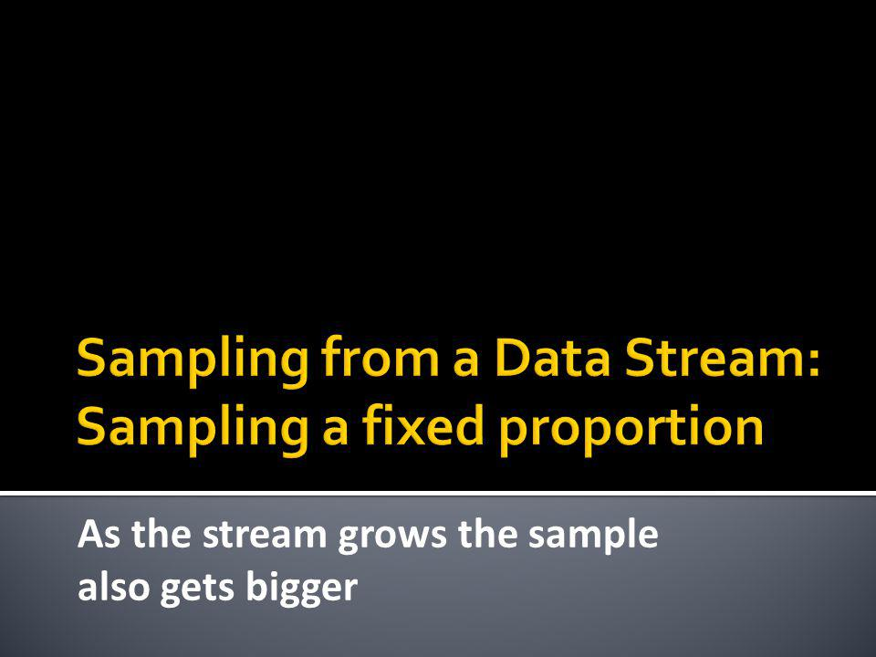 Sampling from a Data Stream: Sampling a fixed proportion