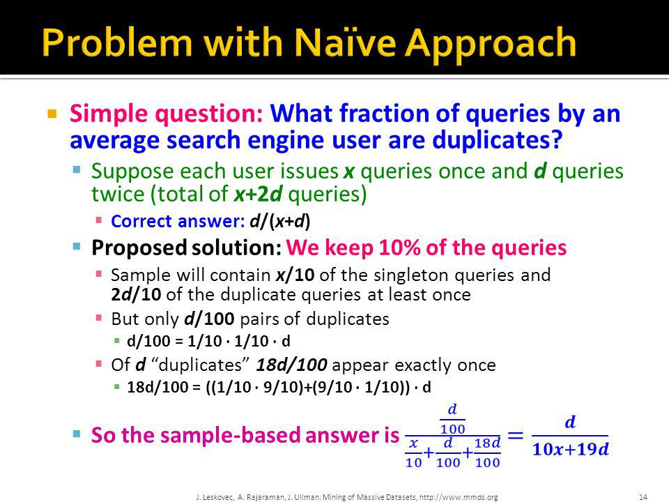 Problem with Naïve Approach