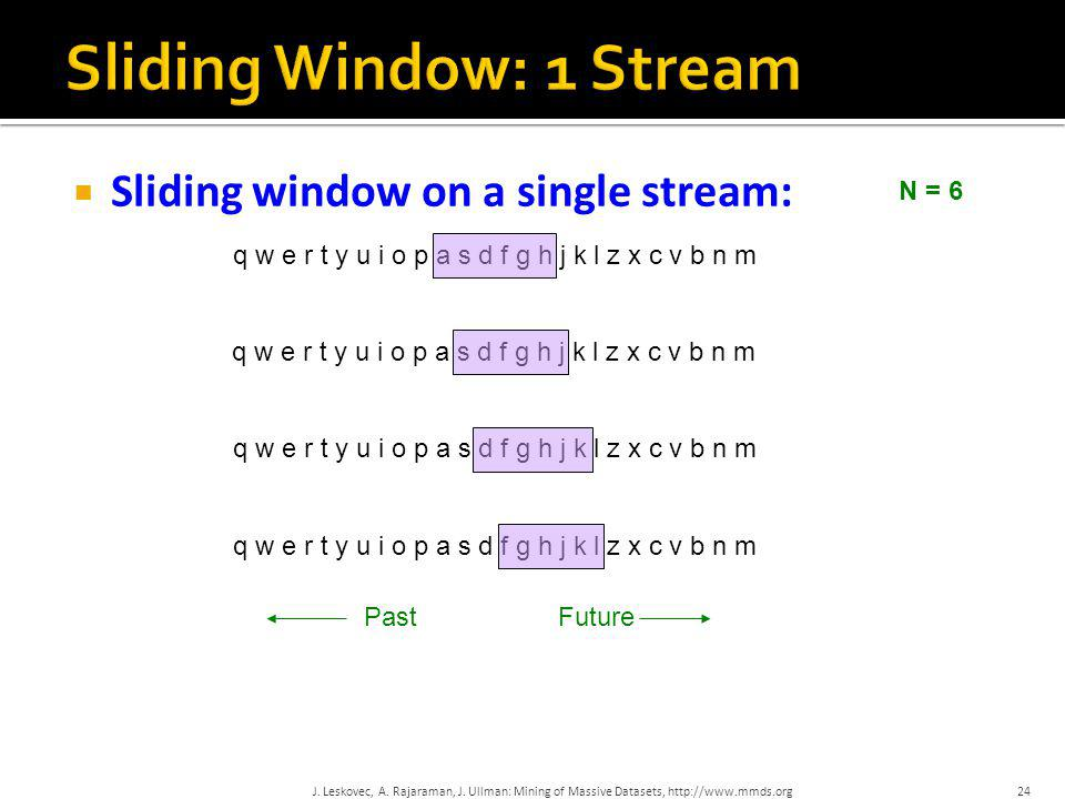 Sliding Window: 1 Stream