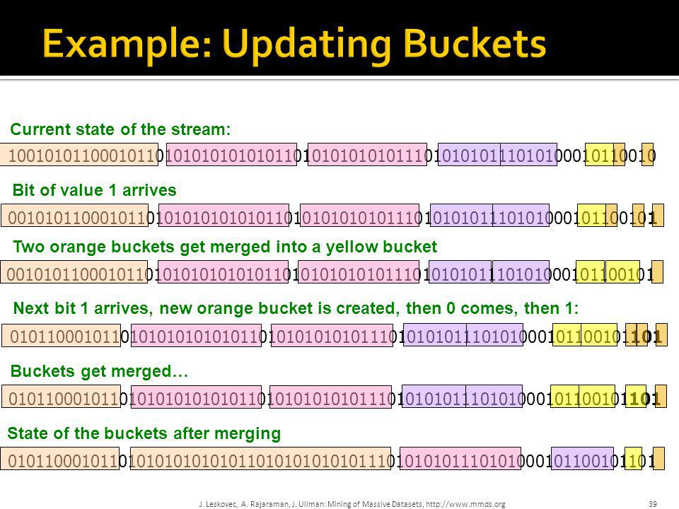Example: Updating Buckets