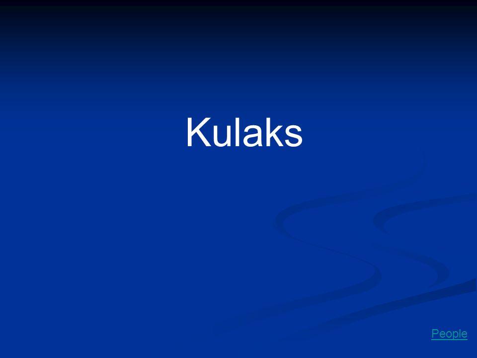 Kulaks People