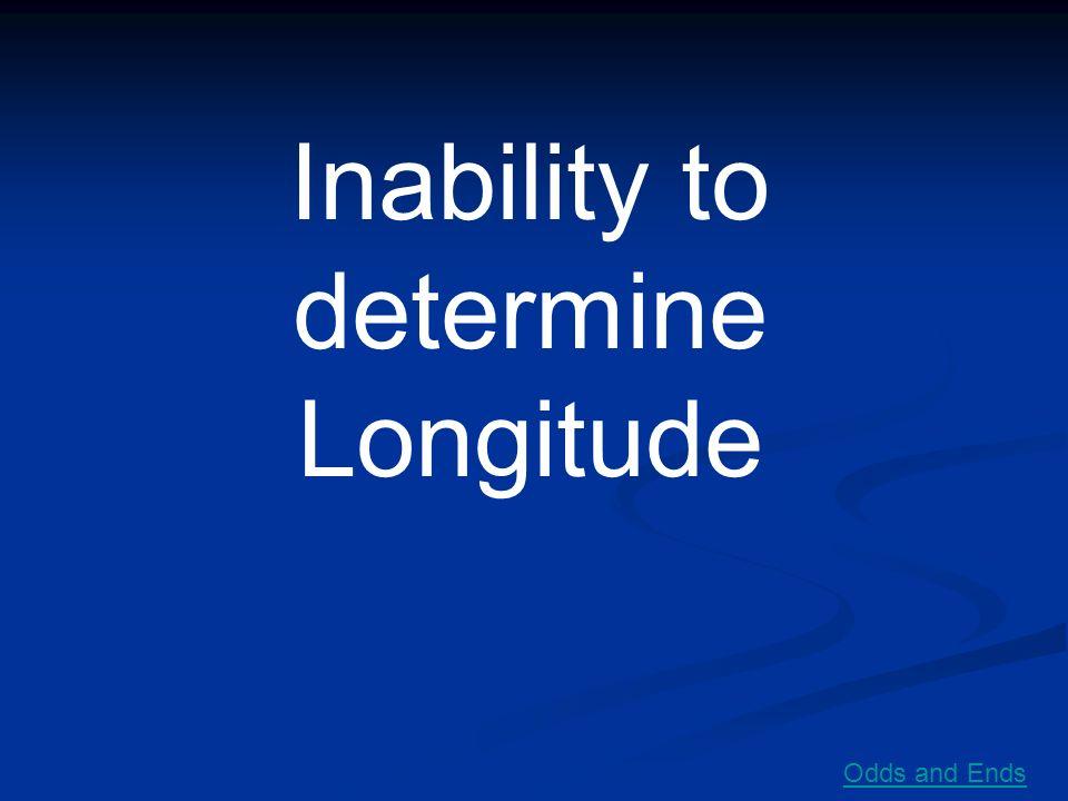 Inability to determine Longitude