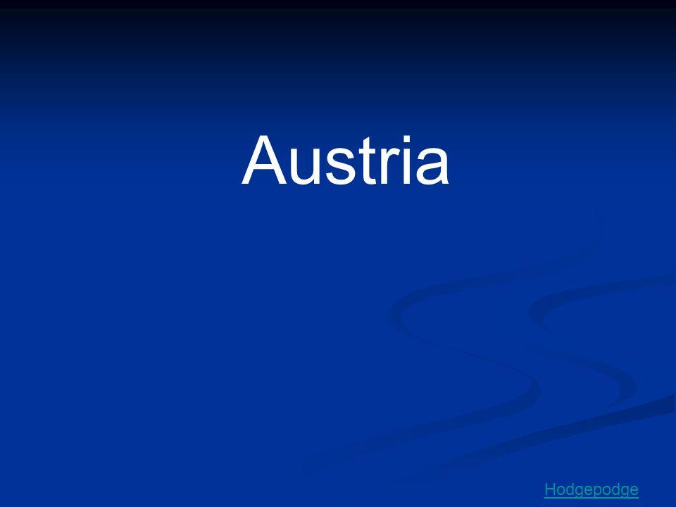Austria Hodgepodge