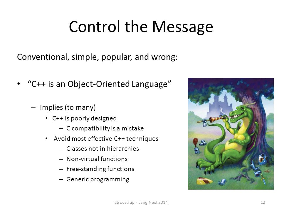 Control the Message Conventional, simple, popular, and wrong: