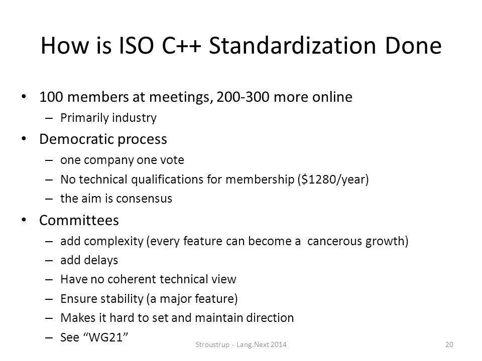 How is ISO C++ Standardization Done
