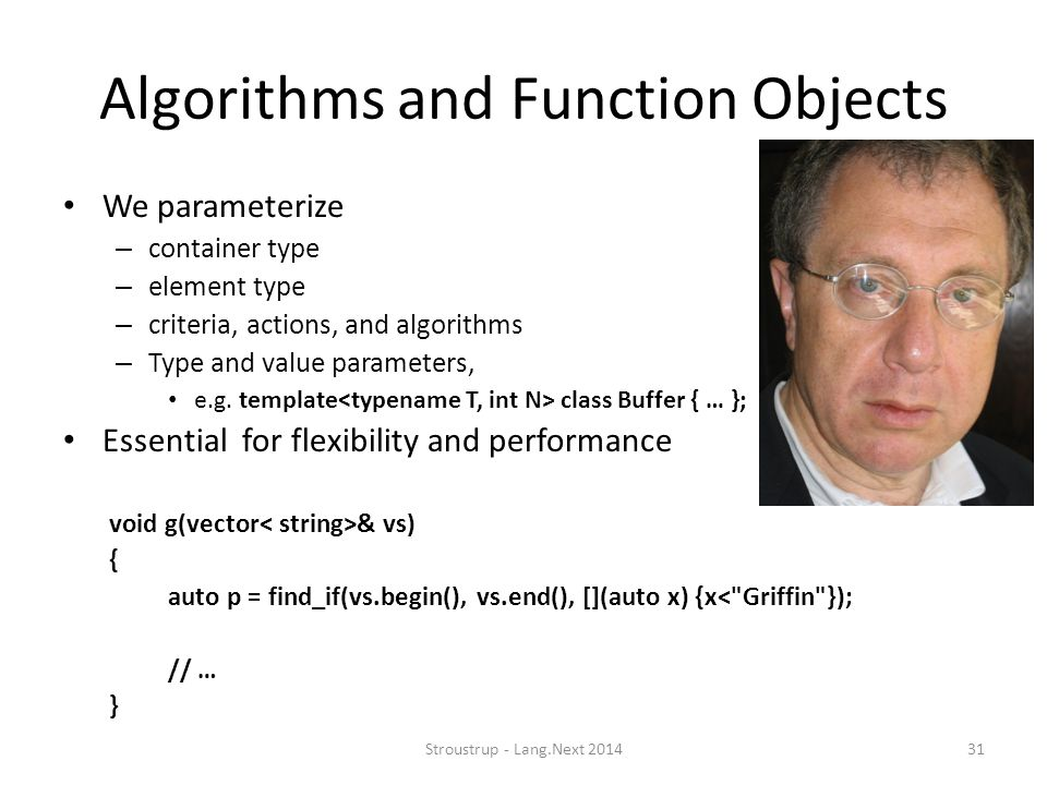 Algorithms and Function Objects