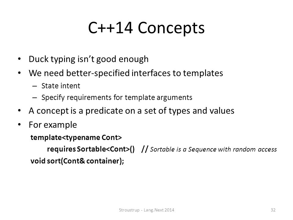 C++14 Concepts Duck typing isn't good enough