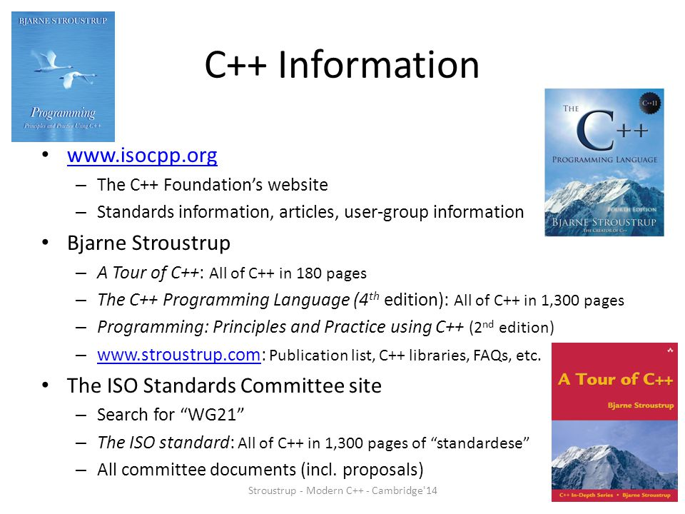 Stroustrup - Modern C++ - Cambridge 14