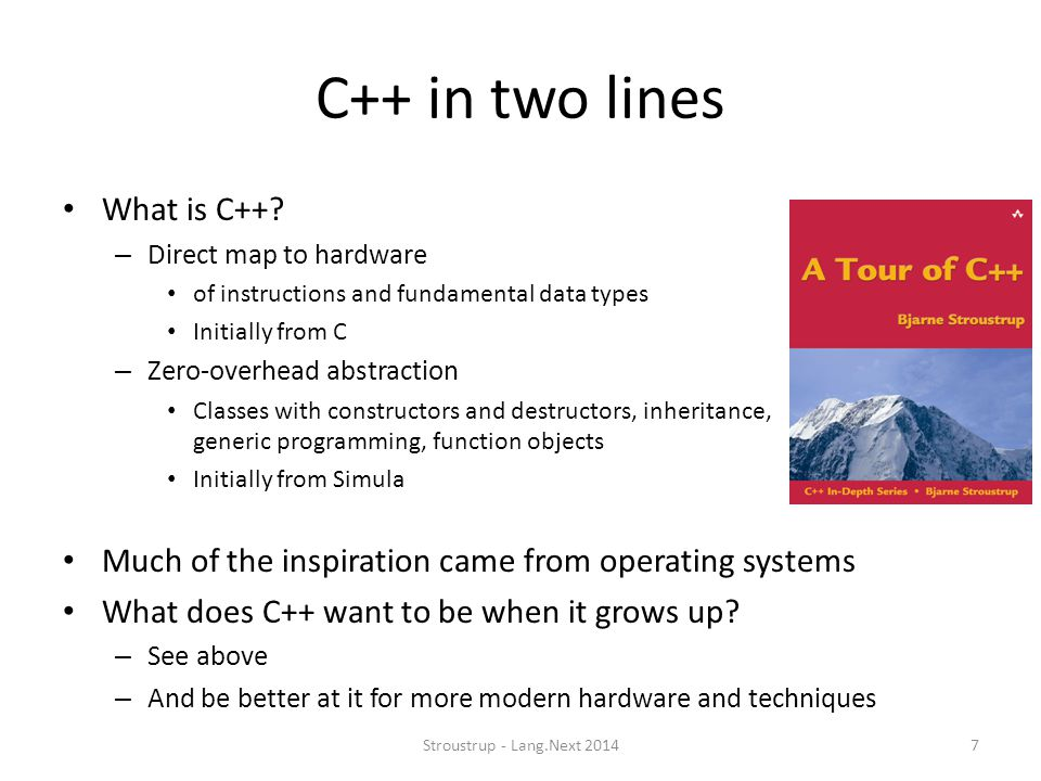 C++ in two lines What is C++
