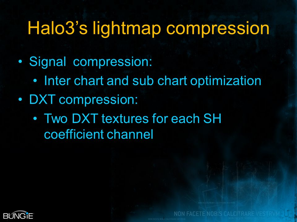Halo3's lightmap compression