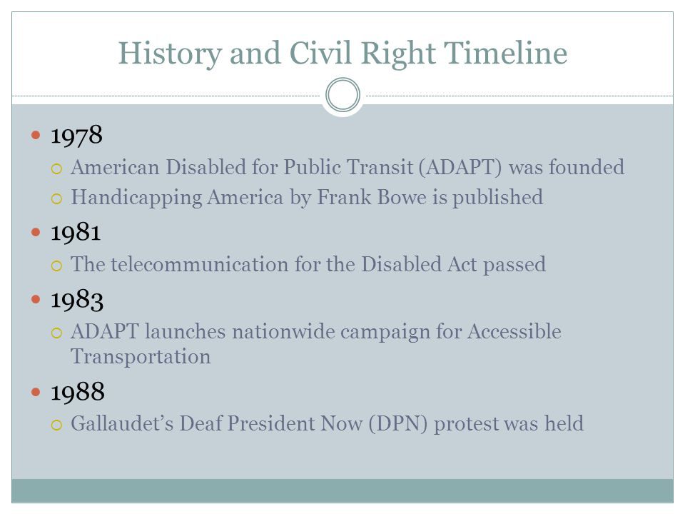 History and Civil Right Timeline